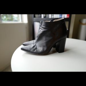 Zara Leather Zipper Boots